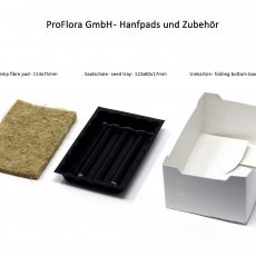 Microgreen Grow Pads with Tray and packaging